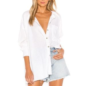 Free People WTF Keep It Simple Button Down